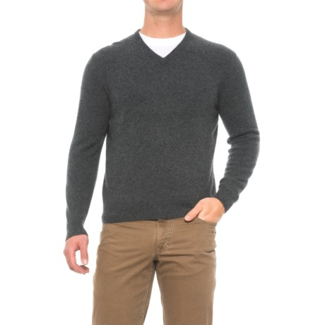 Oliver Perry Cashmere Sweater - V-Neck (For Men)