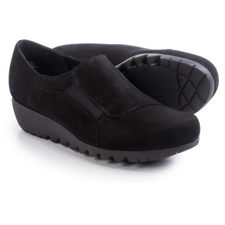 Munro American Coast Wedge Shoes - Nubuck, Slip-Ons (For Women)