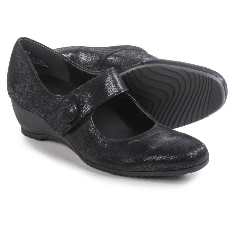 Munro American Jenna Mary Jane Shoes - Suede, Wedge (For Women)