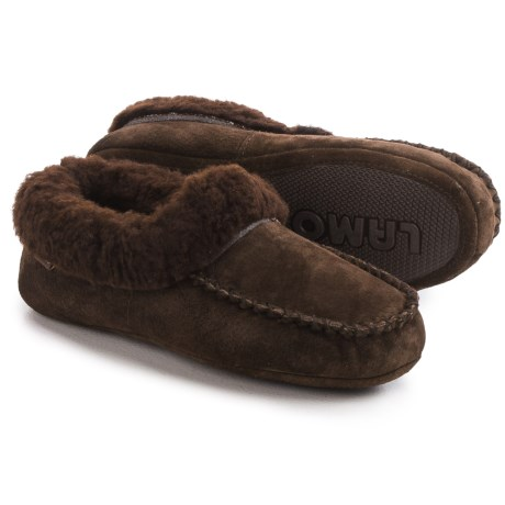 LAMO Footwear Australian Slippers - Suede, Sheepskin Fleece Lining (For Women)