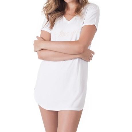 Skarlett Blue Honey Logo Sleep Shirt - V-Neck, Short Sleeve (For Women)