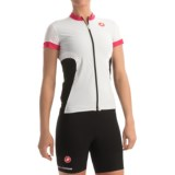 Castelli Gustosa FZ Cycling Jersey - Full Zip, Short Sleeve (For Women)