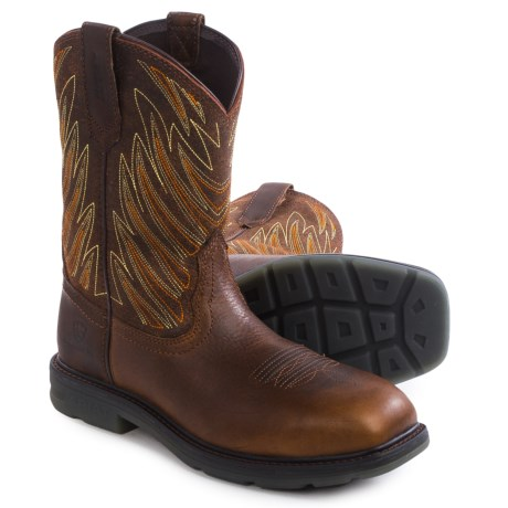 Ariat Maverick Western Work Boots - Leather, Composite Toe (For Men)