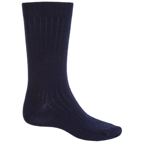 b.ella Classic Ribbed Socks - Merino Wool, Crew (For Men)