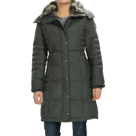 London Fog Puffer Walker Down Coat - Removable Hood (For Women)