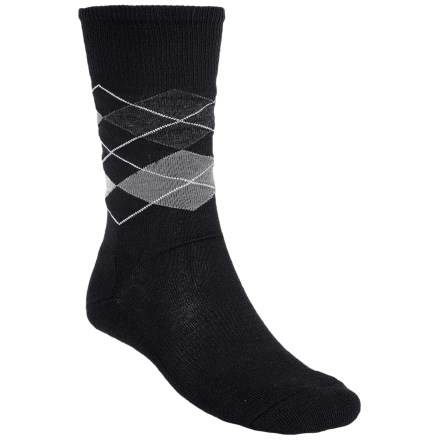 SmartWool Diamond Jim Socks - Merino Wool (For Men) in Black/Medium Gray Heather - 2nds