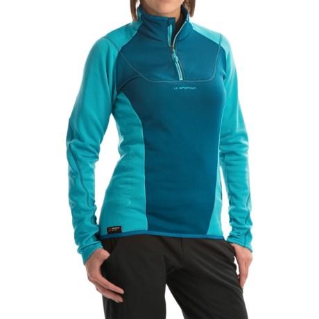 La Sportiva Vega Polartec® Power Dry® Pullover Shirt - Zip Neck, Long Sleeve (For Women)