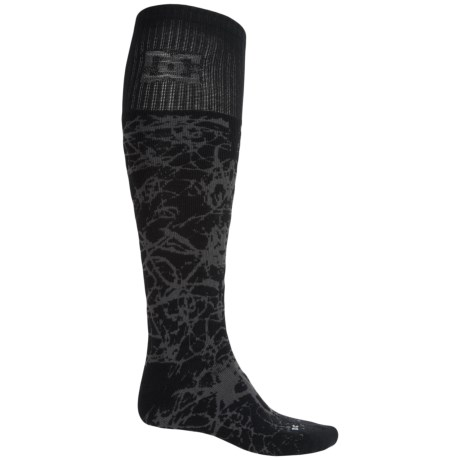 DC Shoes Scribble Midweight Ski Socks - Over the Calf (For Men)
