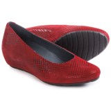 Wolky Valentine Wedge-Heel Shoes - Leather, Slip-Ons (For Women)