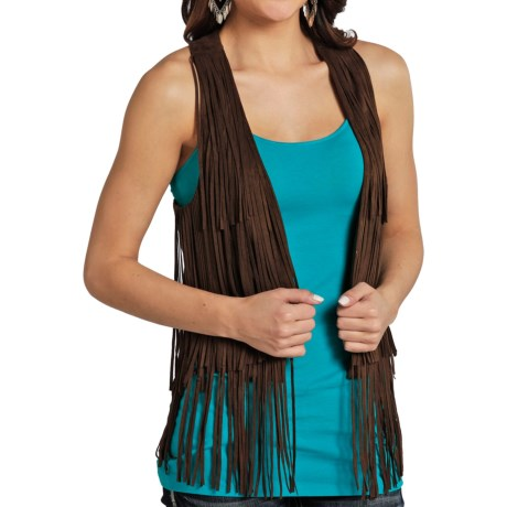 Rock & Roll Cowgirl Fringed Vest (For Women)