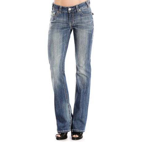 Rock & Roll Cowgirl Crystal-Embellished Jeans - Bootcut, Mid Rise (For Women)