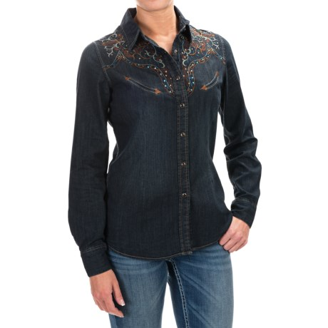 Panhandle Slim Retro Copper Canyon Western Shirt - Snap Front, Long Sleeve (For Women)