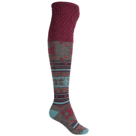 SmartWool Fiesta Flurry Socks - Merino Wool, Knee High (For Women)