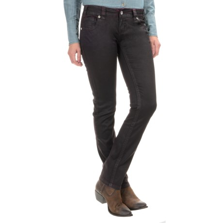 Rock & Roll Cowgirl Faux-Leather Skinny Jeans - Low Rise (For Women)