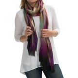Forte Cashmere Wool Fringed Scarf (For Women)