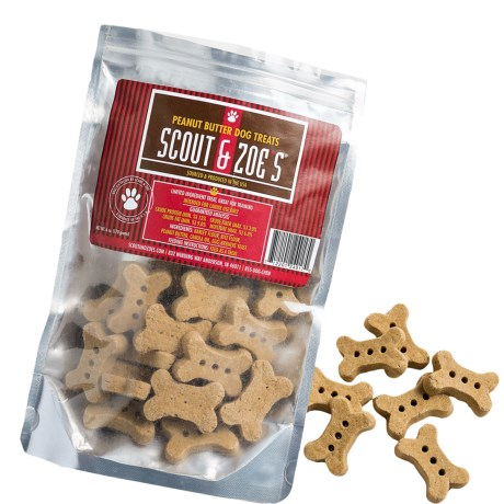 Scout and Zoe's Large Peanut Butter Bones Dog Treats - 6 oz.
