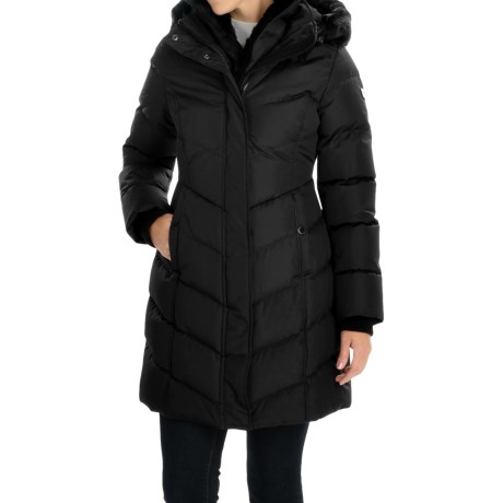 Noize Larisa Chevron-Quilted Parka - Insulated, Removable Faux-Rabbit-Fur Trim (For Women)