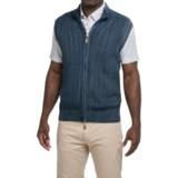 Robert Talbott Ribbed Sweater Vest - Zip Front (For Men)