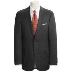 Arnold Brant Black Wool Suit - Fabric Loro Piana (For Men)