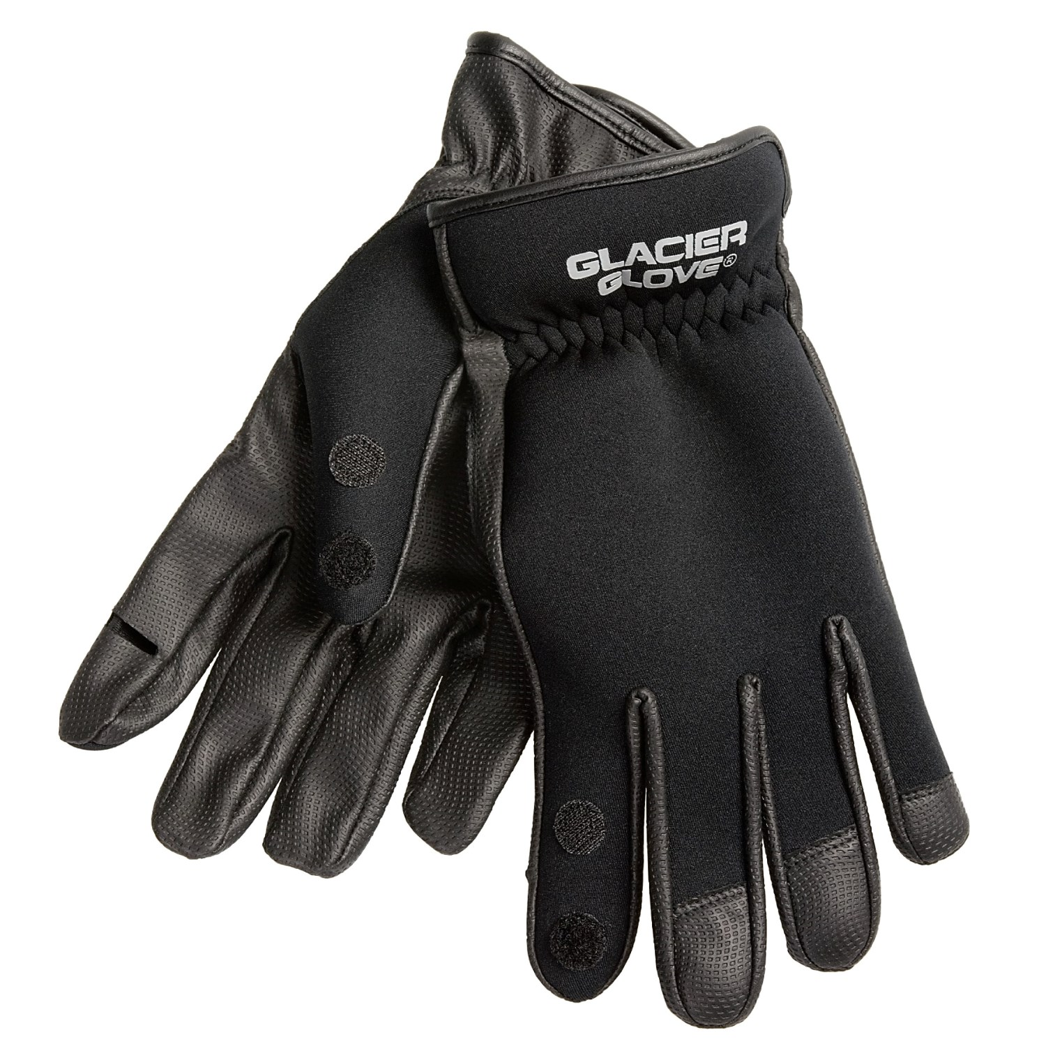 Glacier glove 781bk split finger neoprene fishing gloves for Neoprene fishing gloves