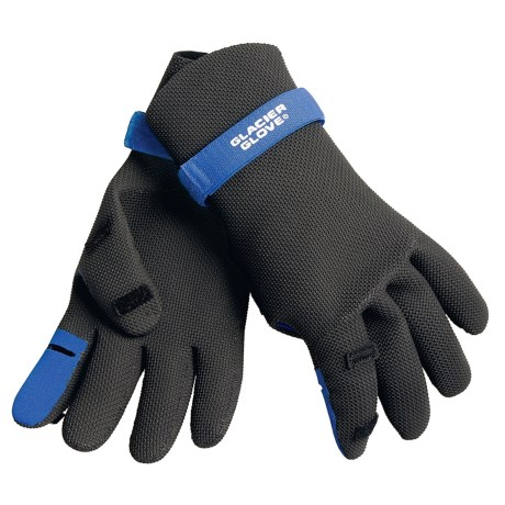 Glacier Glove 801BK Split-Finger Neoprene Fishing Gloves (For Men)