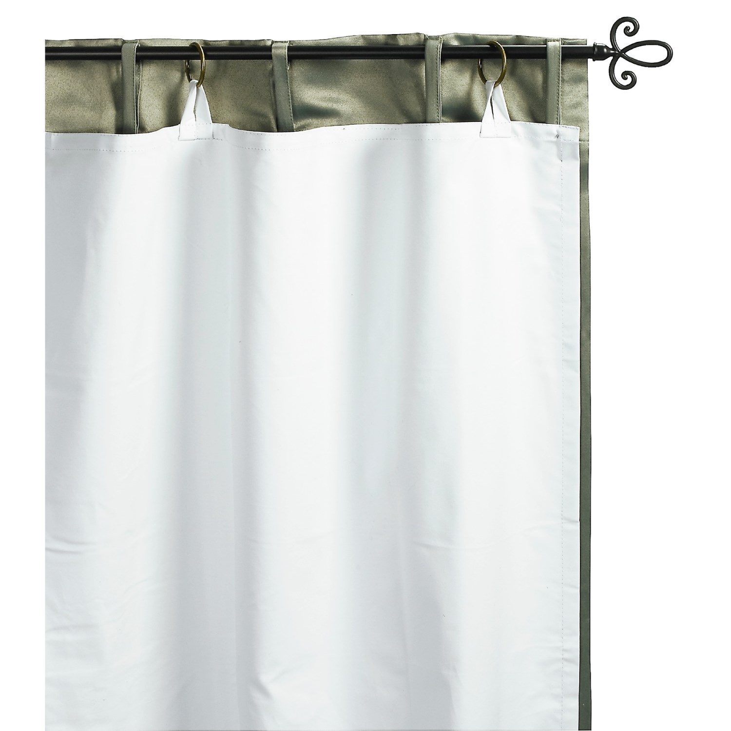 commonwealth home fashions blackout curtain liner 50x58 single