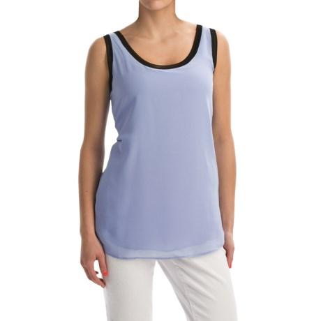 Nic+Zoe Mixed Trim Shirt - Sleeveless (For Women)