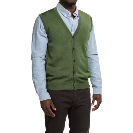 Robert Talbott Brandt Merino Wool Sweater Vest - Button Front (For Men)