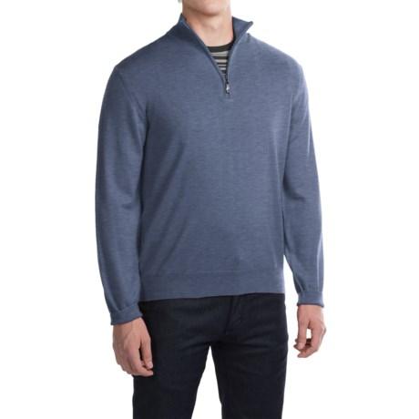 Robert Talbott Cooper Merino Wool Sweater - Zip Neck (For Men)