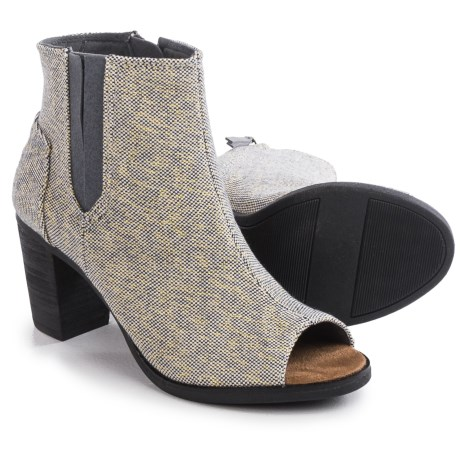 TOMS Majorca Peep Toe Ankle Boots (For Women)