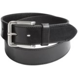 Leather Island by Bill Lavin Cut-Edge Leather Belt (For Men)