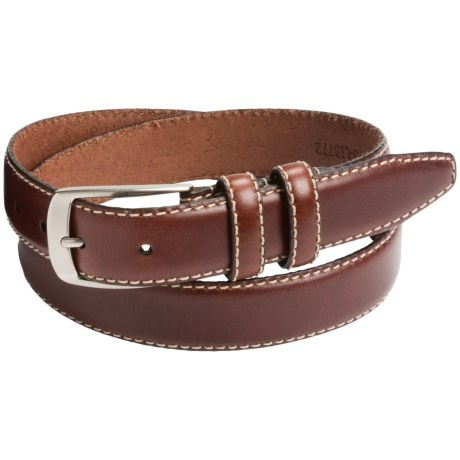 Leather Island by Bill Lavin Contrast Stitch Leather Belt (For Men)