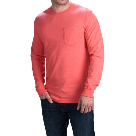 Cotton Pocket T-Shirt - Long Sleeve (For Men)