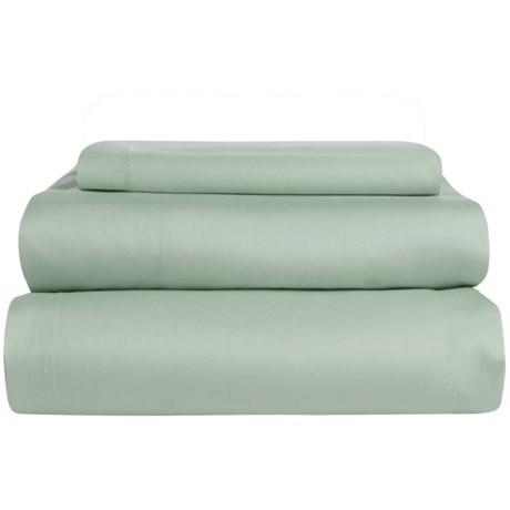 Coyuchi Coastal Organic Cotton Sateen Sheet Set - Twin, 300 TC