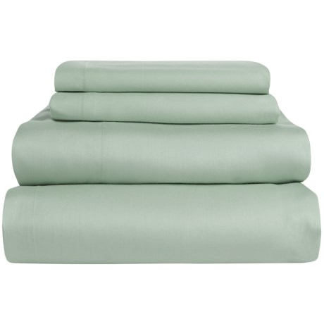 Coyuchi Coastal Organic Cotton Sateen Sheet Set - Full, 300 TC