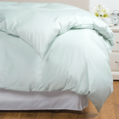 Coyuchi Coastal Organic Cotton Sateen Duvet Cover - Twin, 300 TC