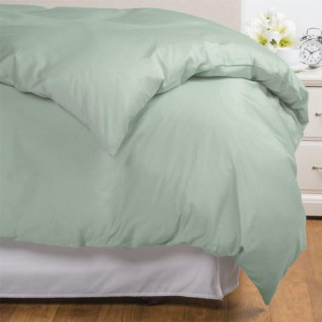 Coyuchi Coastal Organic Cotton Sateen Duvet Cover - King, 300 TC