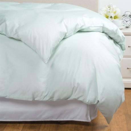 Coyuchi Coastal Organic Cotton Sateen Duvet Cover - Full-Queen, 300 TC