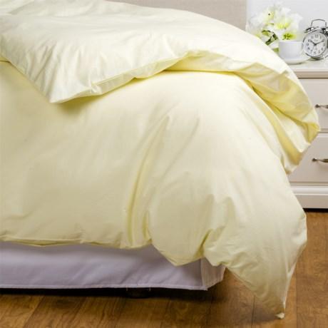 Coyuchi Coastal Organic Cotton Percale Duvet Cover - Full-Queen, 220 TC