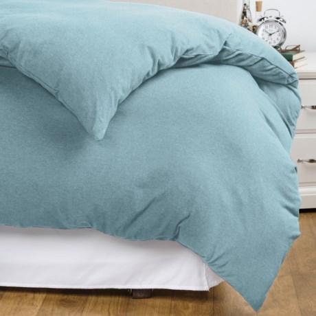 Coyuchi Jersey Heather Duvet Cover - Organic Cotton, King