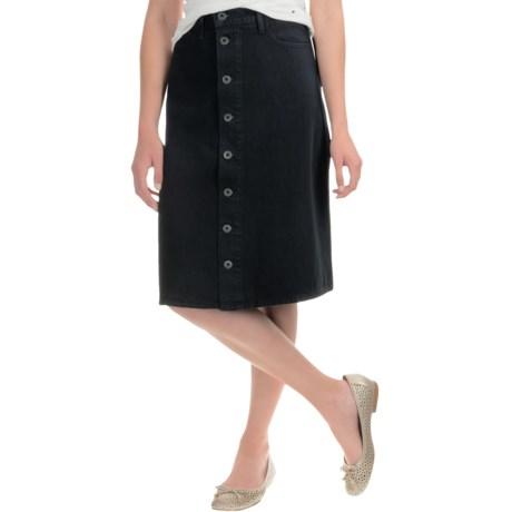 Lucky Brand High-Rise Button-Front Skirt (For Women)