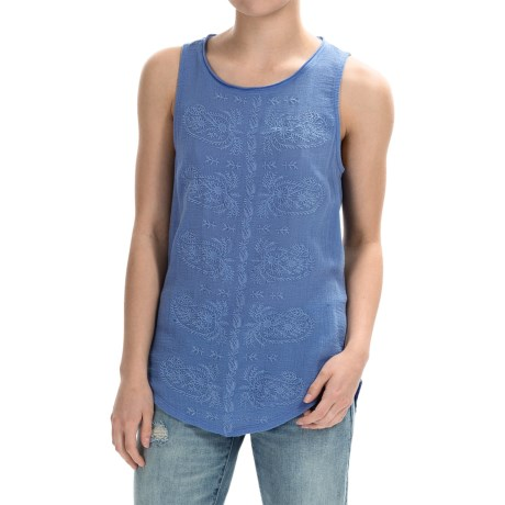 Lucky Brand Paisley Embroidered Tank Top (For Women)