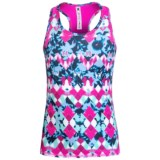 90 Degree by Reflex Printed Tank Top - Racerback (For Big Girls)