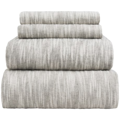 Wulfing Dormisette Striated Luxury Flannel Sheet Set - King
