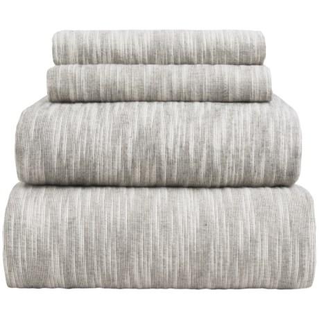 Wulfing Dormisette Striated Luxury Flannel Sheet Set - Queen
