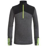 90 Degree by Reflex Color-Block Herringbone Shirt - Zip Neck (For Big Girls)