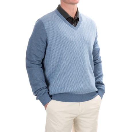 Fairway & Greene Herringbone Wind Sweater - V-Neck (For Men)