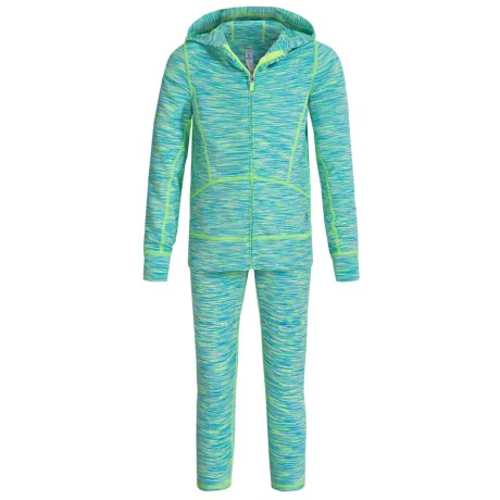 90 Degree by Reflex Space-Dyed Jacket and Leggings Set (For Little Girls)