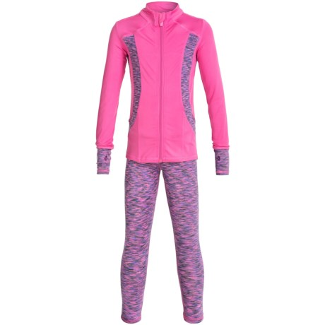 90 Degree by Reflex Space-Dye Jacket and Leggings Set (For Little Girls)