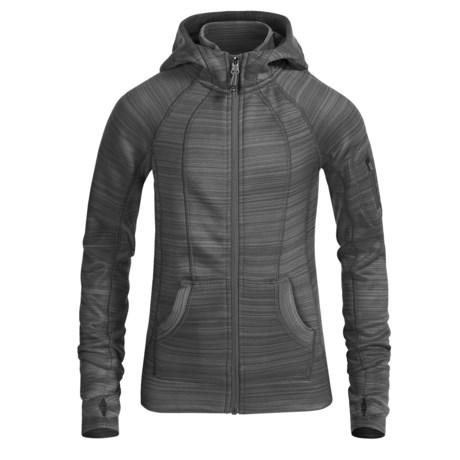 90 Degree by Reflex Fleece Stripe Jacket - Full Zip (For Big Girls)